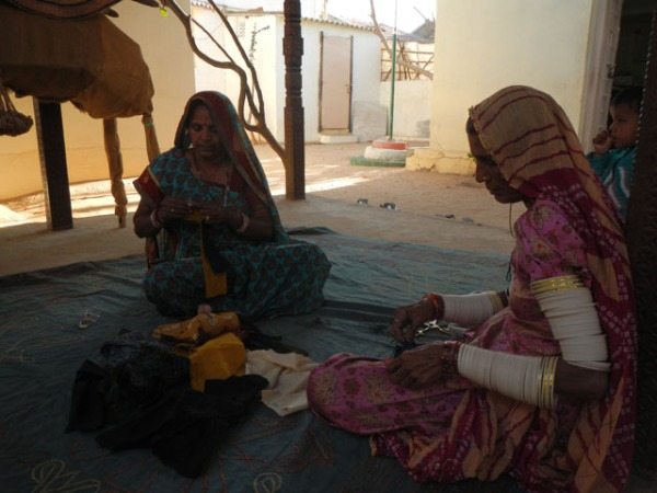 Applique work at Kala Raksha by local women